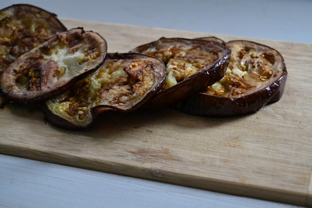 how to cook marinated eggplant